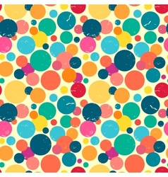 Seamless pattern with grunge dots vector image vector image