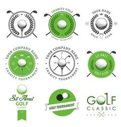 set golf club labels and emblems vector image