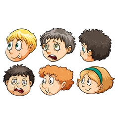 Six heads vector image