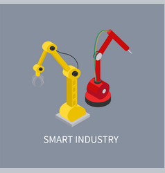 smart industry production vector image