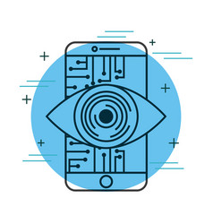 Smartphone eye intelligence technology digital vector
