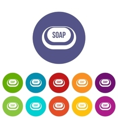 Soap set icons vector