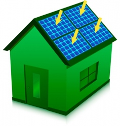 solar energy house vector image