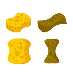Sponge new and old set accessory for cleaning vector