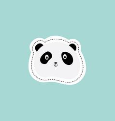 sticker or emoticon bapanda face flat cartoon vector image