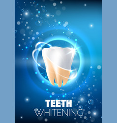 Teeth whitening ad realistic vector
