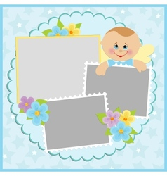 Template for babys photo album vector
