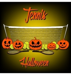 Tennis and Halloween vector image