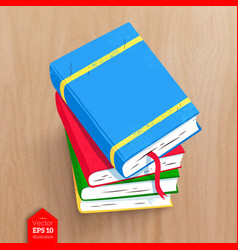 top view of books vector image
