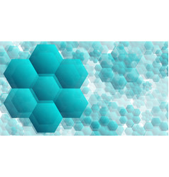 transparent hexagonal shapes technology vector image