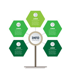 vertical green timeline infographics eco business vector image