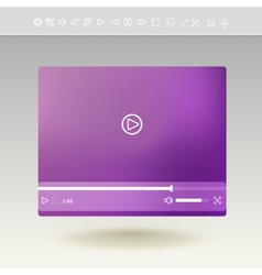 Video player for web and mobile apps vector