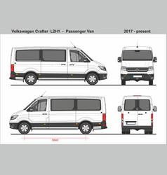 Volkswagen crafter passenger van l2h1 2017-present vector