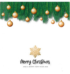 white merry christmas background vector image