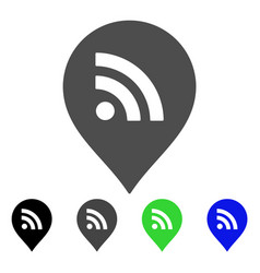 wi-fi marker flat icon vector image