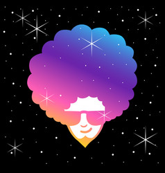 funky frizzy vector image vector image