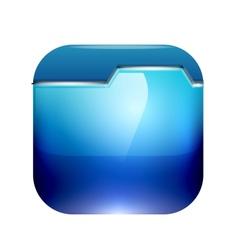 Glossy folder icon design vector image