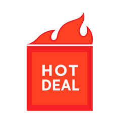 hot deal advertising poster price reduction vector image