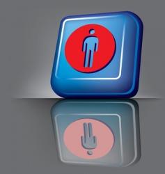 man button vector image vector image