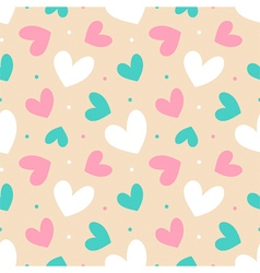 Colorful seamless pattern background with hearts vector image vector image