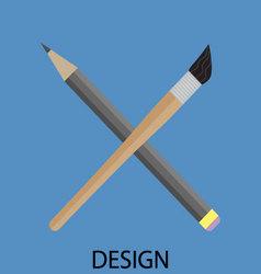 Design icon flat vector image vector image