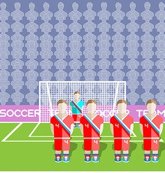 Russia Soccer Club Penalty on a Stadium vector image vector image