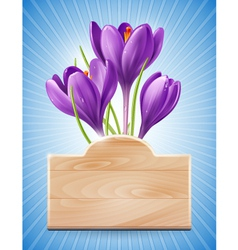 Spring Design with Flowers vector image