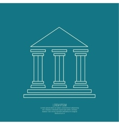 Abstract background with ancient building vector image
