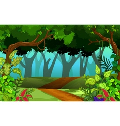 beautiful forest for you design vector image vector image
