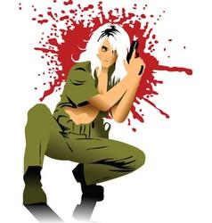 blondy gun vector image vector image