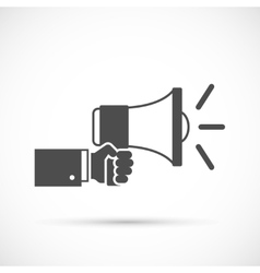 Hand holding loudspeaker vector image