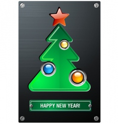 industrial Christmas tree vector image