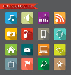 network and communication icons vector image vector image