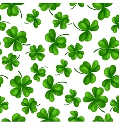 Saint Patricks Day seamless pattern Green clover vector image vector image
