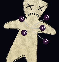 voodoo doll three vector image