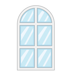 close window frame icon cartoon style vector image vector image