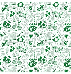 Ecology - seamless background vector image vector image
