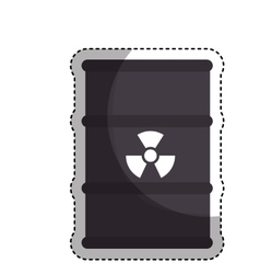 nuclear tank isolated icon vector image