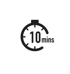 10 minutes timer stopwatch or countdown icon time vector
