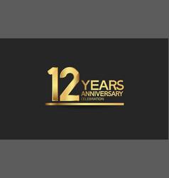 12 years anniversary celebration with elegant vector
