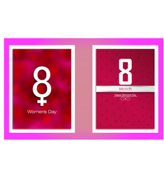 8 march pink concept eight march set vector