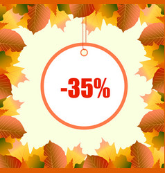 a discount frame from autumn leaves vector image