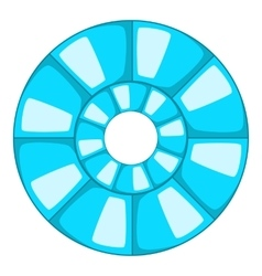 Abstract blue round shape icon cartoon style vector