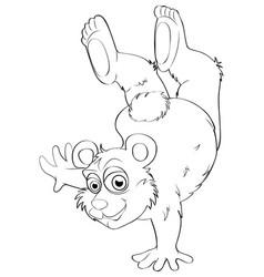 Animal outline for bear vector