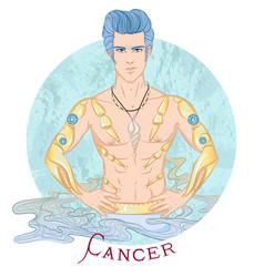 Astrological sign cancer vector