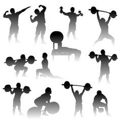 athletes with dark gradient vector image