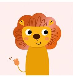 Beautiful cartoon Lion character vector