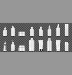 blank white cosmetic tubes on transparent vector image