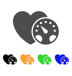 Blood pressure flat icon vector