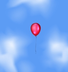 Blue sky and red balloon vector